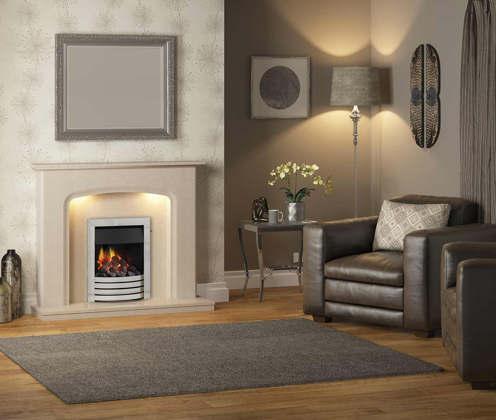 Siena Marble Surround Fireplace Salisbury Gas Shop